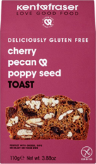 Cherry, pecan and poppy seed toast